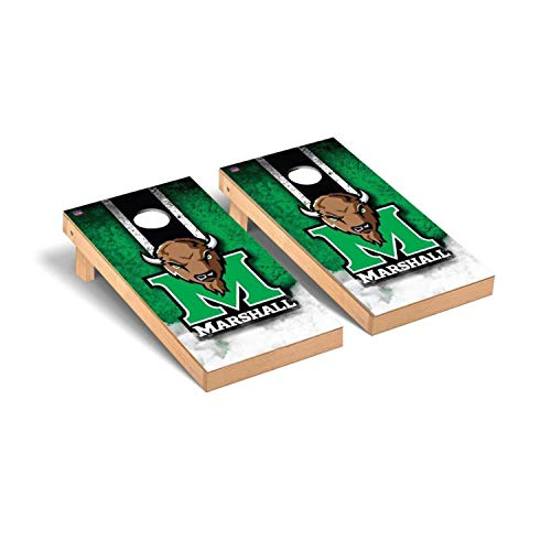 Victory Tailgate Regulation Collegiate NCAA Vintage Series Cornhole Board Set - 2 Boards, 8 Bags - Marshall Thundering Herd