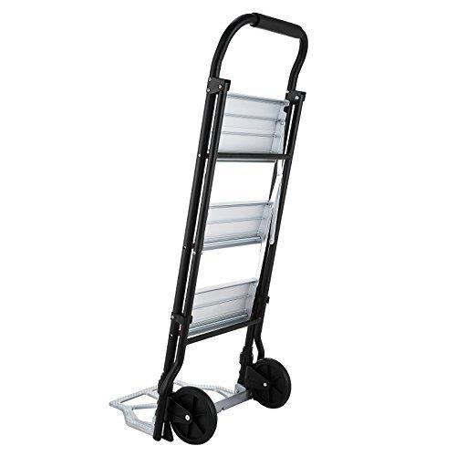 Ladder Cart - Mophorn Aluminum Hand Truck 2 In 1 Step Ladder Folding Cart Dolly 175 LBS Step Ladder Hand Cart (175LBS)