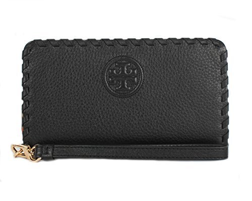 Tory Burch Marion Smartphone Wristlet Wallet, Style No 40855 (Black)