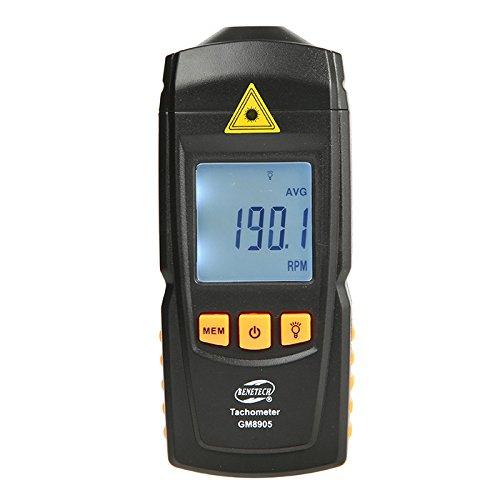 BENETECH GM8905 Non Contact Handheld LCD Digital Laser Tachometer RPM Tach Tester Meter Motor Speed Gauge
