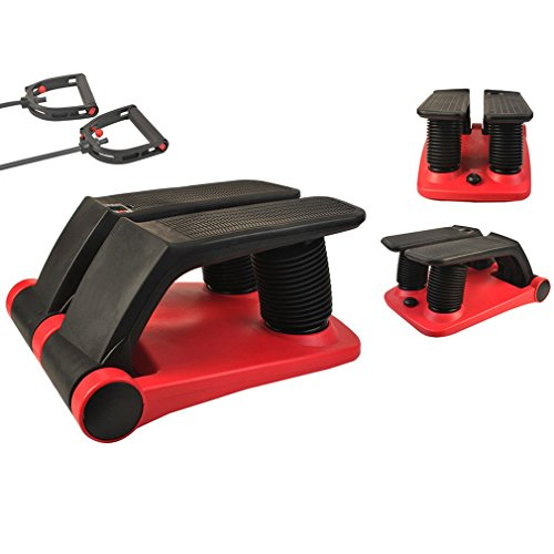 r Climber As Seen on TV | Air Stepper Climber Exercise Fitness Thigh Machine w/DVD and Resistance Band (red & black) ()