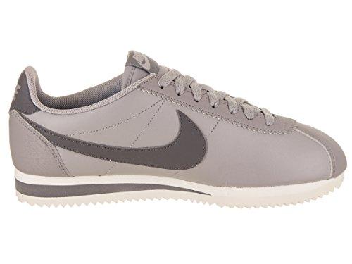 Nike Damen Klassieke Cortez Lederen Gymnastikschuhe Grau