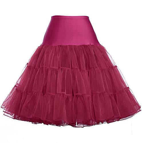 Femme Jupes Fluffy Pettiskirt pour Mariage Rtro Vintage Femmes Jupe Robe, Jupon Tulle Skirt 15