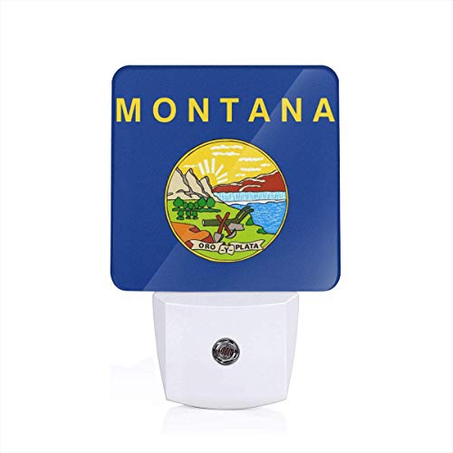 Montana Night Light - US Flag of Montana Night Light Automatic Sensor Home LED Wall Lights Mini Indoor Lighting Trendy Save Sleep Lamps Room Decor