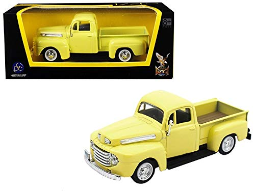 Road Signature 1948 Ford F-1 Pickup Truck Yellow 1/43 Diecast Model Car ()