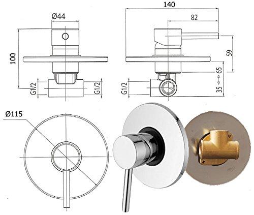 Einhebelmischer Unterputz Armatur /& UP-BOX Rund Mischbatterie Taharet Wc Bidet