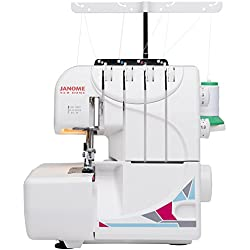 Janome MOD-8933 Serger with Lay-In Threading, 3 and 4 Thread Convertible with Differential Feed