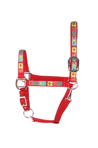 Horse Halter Sizes - Red Haute Horse RTC1403 A Equine Elite Horse Halter, Retro Christmas