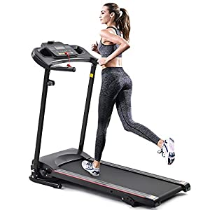 Treadmill for Home,Treadmill with Incline with 3 Manual inclines,Folding Electric Treadmill,Motorized Running Machine Treadmills for Home, with LCD,Easy Assembly