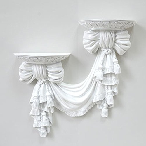 European wall flower frame wall hanging flower frame wall decoration flower rack ( Color : Bright white ) by Flower racks - xin