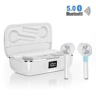 True Wireless Earbuds Bluetooth 5.0, in-Ear Noise Cancelling Bluetooth Headphones 40H Playtime with Dual-Mic Stereo Headset Touch Control Compatible with Smartphones Tablets