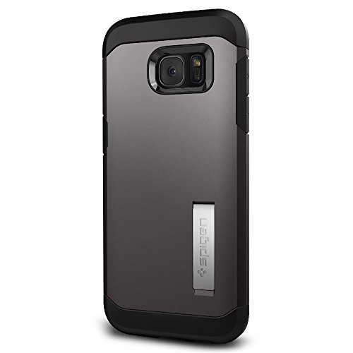 Spigen Tough Armor Galaxy S7 Edge Case with Kickstand and Extreme Heavy Duty Protection and Air Cushion Technology for Samsung Galaxy S7 Edge 2016 - Gunmetal