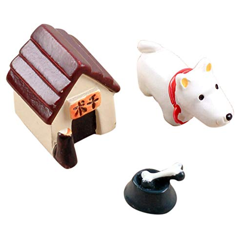 NszzJixo9 3 Pcs Mini Resin Model Dog World Ornaments Craft Accessory Resin Home Garden Decoration - DIY Mini Craft Cottage Landscape Decoration Suitable for Indoor Decoration