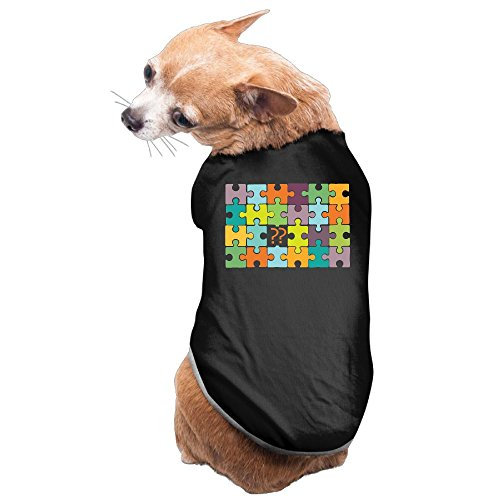- WUGOU Dog Cat Pet Shirt Clothes Puppy Vest Soft Thin Puzzle With Question Marks 3 Sizes 4 Colors Available