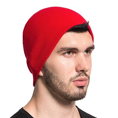Leucos Ticte Beanie Knit Hat Men Women Cuffed Plain Cap Skull Toboggan (Trawler Beanie)