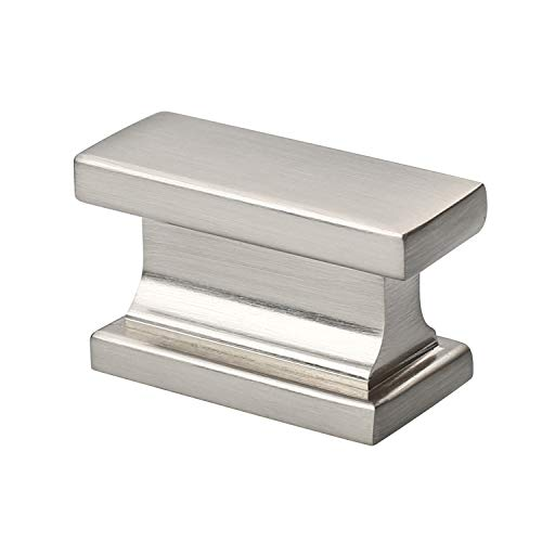 - Alzassbg AL6061SN Brushed Satin Nickel, 1.46 Inch(37mm) Cabinet Hardware Rectangle Knobs for Cupboard and Drawer 10 Pack