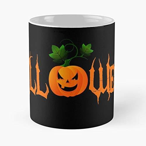 Pumpkin Halloween Cartoon Comic - 11 Oz Coffee Mugs Unique Ceramic Novelty Cup, The Best Gift For Halloween. ()