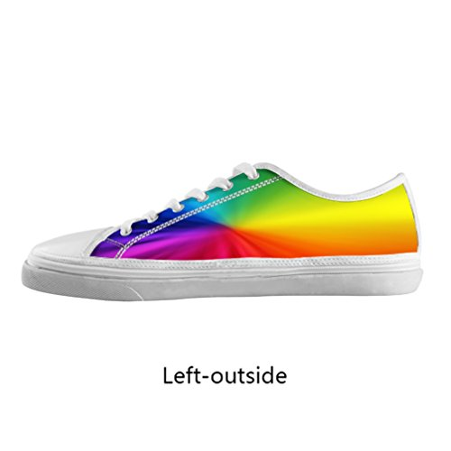 JIUDUIDODO Women's Fashion Best Gifts Rainbow Print Canvas Sneaker Shoes US10 (Best Minimalist Running Shoes compare prices)