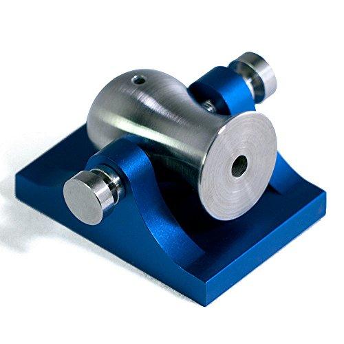 Mini Desktop Cannon Pocket Artillery - Blue w/ Stainless Hardware