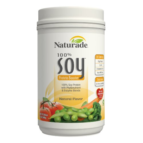 Naturade 100% Soy Protein Booster, arôme naturel, 29,6 Onces