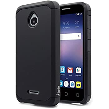 Alcatel Ideal Case, Alcatel Ideal 4G LTE / Pixi Avion 4G LTE / Pixi Bond / Dawn / Streak Case, NageBee Design Premium [Heavy Duty] Defender [Dual Layer] Protector Hybrid Case - Black