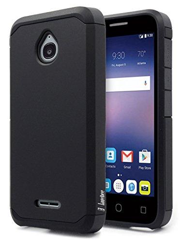 NageBee Alcatel Ideal Case, Alcatel Ideal 4G LTE/Pixi Avion 4G LTE/Pixi Bond/Dawn/Streak Case, Design Premium [Heavy Duty] Defender [Dual Layer] Protector Hybrid Case - Black