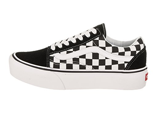 Old Chaussures true checkerboard Skool Vans White Black Platform Ydxtwfq