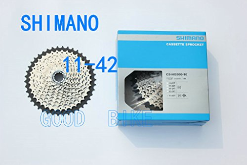 SHIMANO Tiagra HG500 10-Speed Mountain Bike Cassette - CS-HG500-10 - 11-42 (11-42) (Best Mtb For 500)