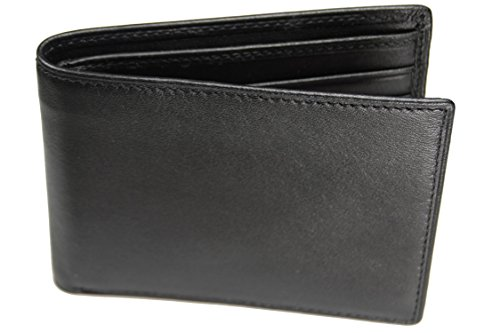 Fold Billfold (Castello Italian Soft Leather Slim Fold Wallet with RFID Security (Black))