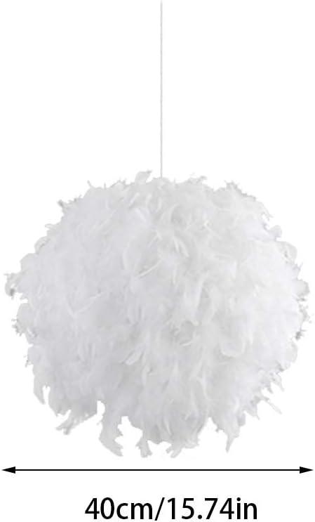 EqWong Plafonnier en plume E27 Lustre moderne au sol Romantique Imperm/éable Lampe de plafond Salle de bain Chambre /à coucher Cuisine Salon Couloir Balcon Salon