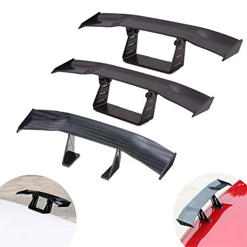 UBOOMS 3 Pcs Mini Spoiler Auto Car Tail Decoration Spoiler Wing Carbon Fiber,2 ()