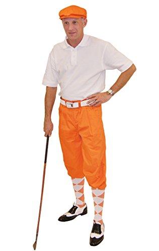 Orange Knickers, Cap, White Polo and Argyle Socks (34M) ()