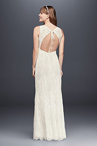 Lace V-Neck Wedding Dress with Empire Waist Style KP3783
