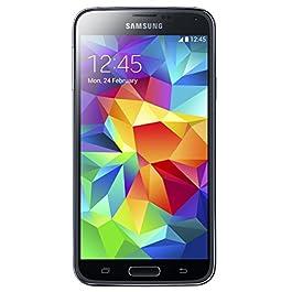 Samsung Galaxy S5 SM-G900T -16GB Black + GSM Unlocked (Renewed)