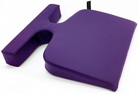 Royal Massage T-Wedge - Feminine Breast Bolster Pillow - Purple