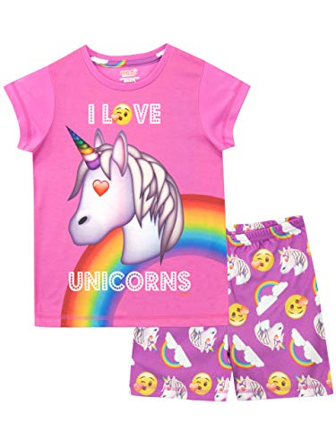 emoji Girls' Unicorn Pajamas Size 8 Pink