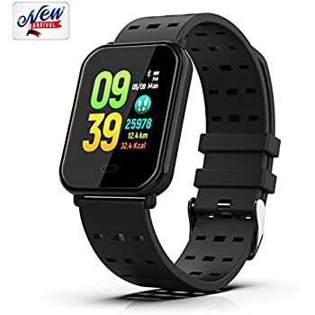 Fitness Tracker, Smart Watch Activity Tracker Bracelet with Heart Rate Monitor, Sleep Monitor, Step Counter Waterproof Pedometer, Sports Wristbands ...