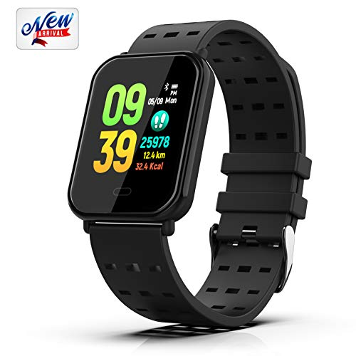 Smart Watch Fitness Tracker Activity Tracker Bracelet Waterproof Pedometer with Heart Rate Monitor, Sleep Monitor, Step Counter, Sports Wristbands Compatible with iPhone and Android