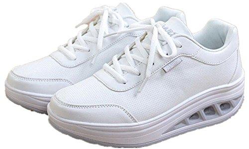 Volwassen Vrouwen Shape Ups Wandelen Fitness Schoenen Casual Mode Sneakers Wit