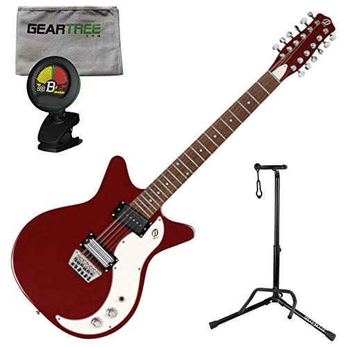 - Danelectro D59X12 59X 12 String Electric Guitar Red w/Polish Cloth, Stand, and