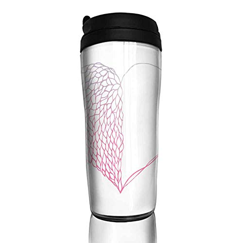 (coffee cups set of Heart petals flower half concept design pink purple gradients color illustration isolated on white background with copy space vector eps10 12 oz,coffee k cup filter for ground cof)