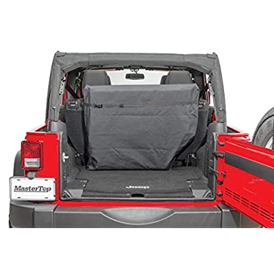 MasterTop 13100001 |Jeep Wrangler Freedom Top Storage Bag with Carry Handle and Ultra Soft Multi-Pocket Compartments |Black |Factory Hard Panels: Automotive