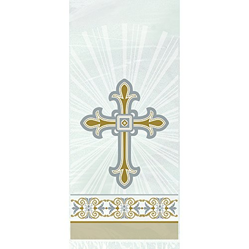 Gold & Silver Radiant Cross Religious Cellophane Bags, (Cello Loot Bags)