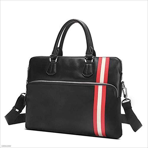 Section Suitable Briefcase Computer Bag Business Vintage Casual Notebook Bag Qi Satchel Bag Men's Cross Men's Bag 14 Men's Business First Leather Layer Inch Leather Briefcase Shoulder Handbag For U51wZq