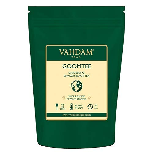 VAHDAM, 2019 First Flush Tea from Exotic Goomtee Tea Estate | 3.53 Oz, 100g | Exclusive Hand Picked Black Tea Loose Leaf | A Perfect Everyday Loose Leaf Black Tea