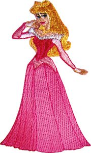 Sleeping Beauty Princess In Ball Dress Embroidered Iron on Disney Movie Patch - On Disney Princess Iron