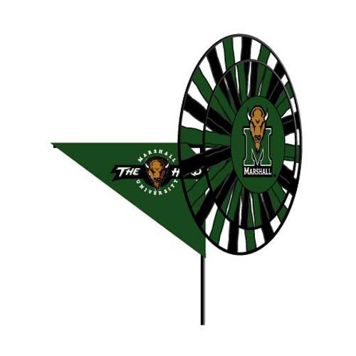 Yard Ncaa Spinner - Marshall University Thundering Herd - Wind Spinner