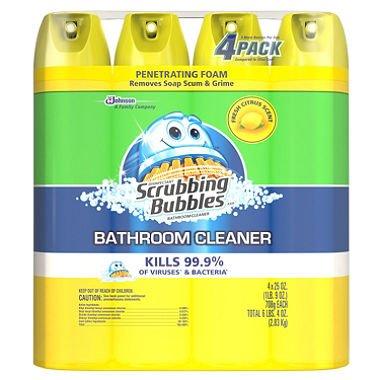 (Scrubbing Bubbles Lemon Foaming Bathroom Cleaner - 25 oz. - 4 pk.)