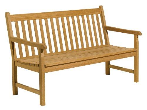 Oxford Garden - Classic Collection 5-Foot Shorea Bench | 100% Tropical Shorea Hardwood Outdoor Furniture