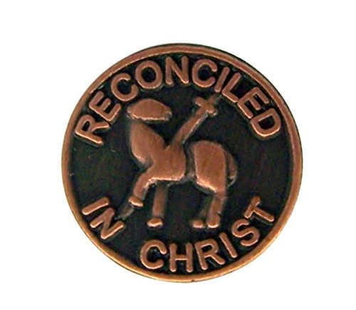 Reconciled In Christ Metal First Reconciliation Lapel Pin, 1/2 Inch